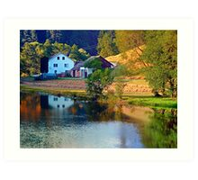 A summer evening along the river II | waterscape photography Art Print