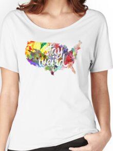 Stay Weird America Women's Relaxed Fit T-Shirt