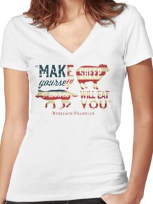 Make Yourself Sheep Women's Fitted V-Neck T-Shirt