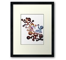 Cosmic Circuit Framed Print