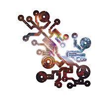 Cosmic Circuit Photographic Print