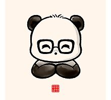 Geek Chic Panda Photographic Print