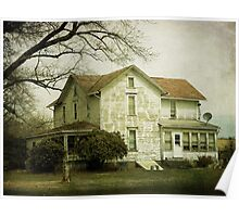Beautiful old farm house Poster