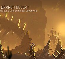 Barren Desert - Postcards by btns
