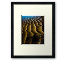 STILLNESS AT THE BEACH Framed Print