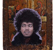 Portrait of Jimi Hendrix by robertpriseman