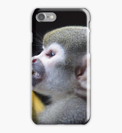 Feeding time for monkeys iPhone Case/Skin