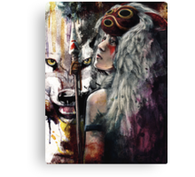 Mononoke San and the Spirit of the Wolf Canvas Print