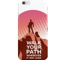Walk Your Path - Red iPhone Case/Skin