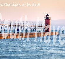 Late Afternoon Sun Over the South Haven Lighthouse by Robert Kelch, M.D.