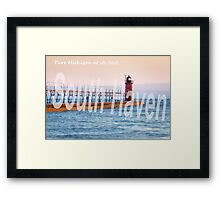 Late Afternoon Sun Over the South Haven Lighthouse Framed Print