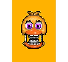 Adventure Withered Chica - FNAF World - Pixel Art Photographic Print