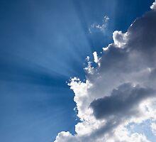 Blue Sky and Sunbeams by Georgia Mizuleva