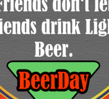 Beer Party Day Sticker