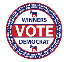 Winners Vote Democrat by Democrat