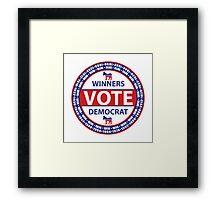 Winners Vote Democrat Framed Print