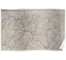 Civil War Maps 1253 Part of map of portions of the milit'y dept's of Washington Pennsylvania Annapolis and north eastern Virginia Poster
