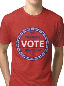 Winners Vote Democrat Tri-blend T-Shirt