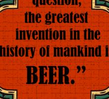 Biggest History Mankinds Sticker