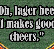 Lager Beer Sticker