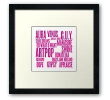 ARTPOP (White) Framed Print