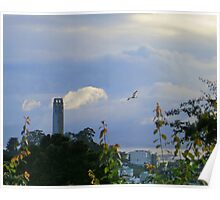 Coit Tower After the Storm Poster