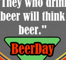 Beer Day Sticker