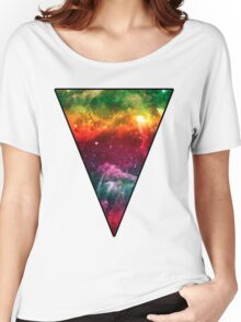 Rainbow Universe Triangle Women's Relaxed Fit T-Shirt