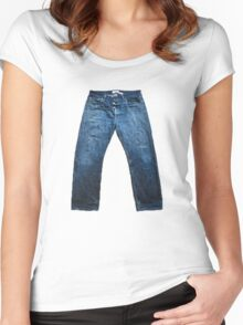 Jeans Women's Fitted Scoop T-Shirt