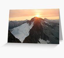 Sunrise Over Mt Buckner Greeting Card