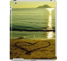 love is in sand iPad Case/Skin