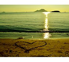 love is in sand Photographic Print
