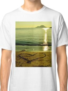 love is in sand Classic T-Shirt