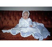 Baptismal Cherub Photographic Print