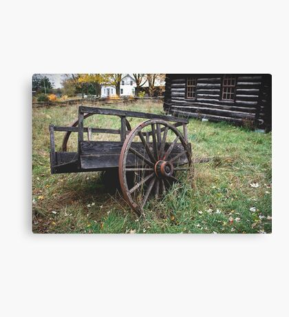 Flat Tire Canvas Print