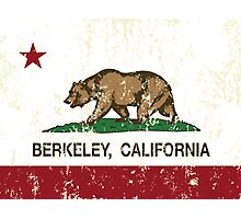 Berkeley California Republic Flag  Photographic Print