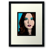 Amy Pond Pop Art (Doctor Who) Framed Print
