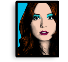 Amy Pond Pop Art (Doctor Who) Canvas Print