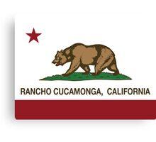 Rancho Cucamonga California Republic Flag  Canvas Print
