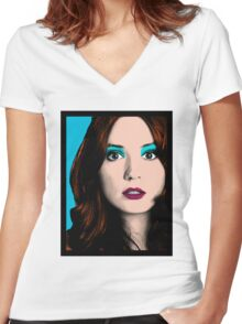 Amy Pond Pop Art (Doctor Who) Women's Fitted V-Neck T-Shirt