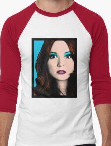 Amy Pond Pop Art (Doctor Who) Men's Baseball ¾ T-Shirt
