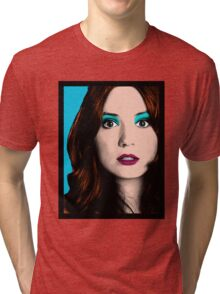 Amy Pond Pop Art (Doctor Who) Tri-blend T-Shirt