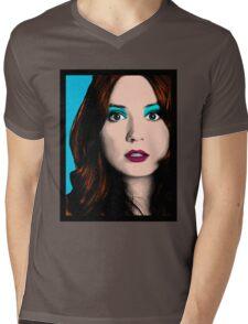 Amy Pond Pop Art (Doctor Who) Mens V-Neck T-Shirt