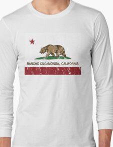 Rancho Cucamonga California Republic Flag  Long Sleeve T-Shirt