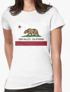 Simi Valley California Republic Flag  Womens Fitted T-Shirt