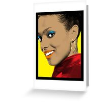 Martha Jones Pop Art Greeting Card
