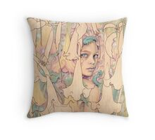 Datura Throw Pillow