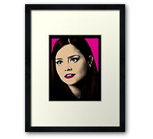 Clara Oswald Pop Art Framed Print