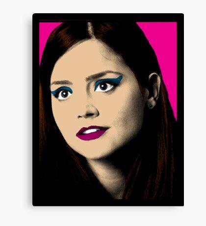 Clara Oswald Pop Art Canvas Print