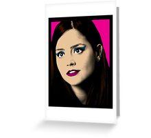 Clara Oswald Pop Art Greeting Card